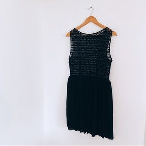 American Apparel Black Dress- Lace Top
